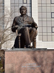 Monument to the great Russian historian Gumilyov, in Astana