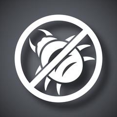 Vector no malware icon