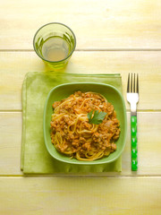 tagliatelle with pumpkin and sausage