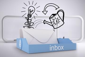 Composite image of blue inbox