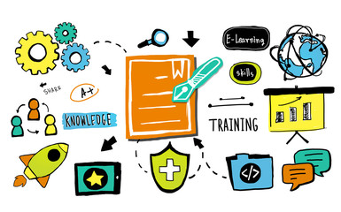 Training Knowledge Information E-learning Strategy Concept