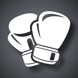 Vector boxing gloves icon