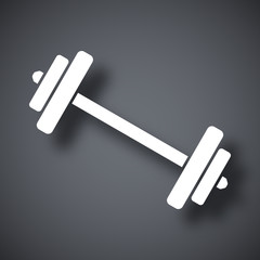 Vector barbell icon
