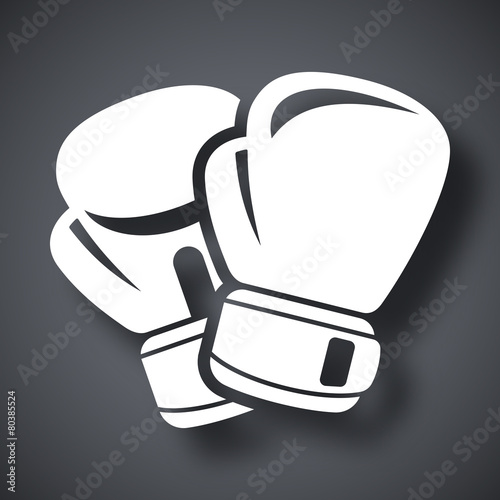 Fototapeta Vector boxing gloves icon
