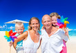 Family Vacation Beach Happiness Travel Summer Concept