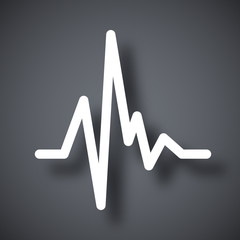 Vector pulse heart rate icon