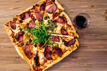 Pizza z winem