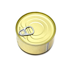 round can canned on a white background