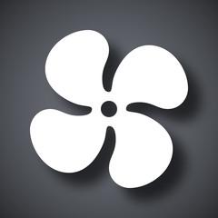 Vector fan icon