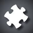 Vector puzzle icon - 80386925