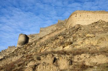 View of ancient Gori fortress wall,Georgia,Caucasus,Euroasia