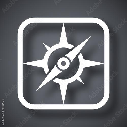 Vector compass icon - 80387574