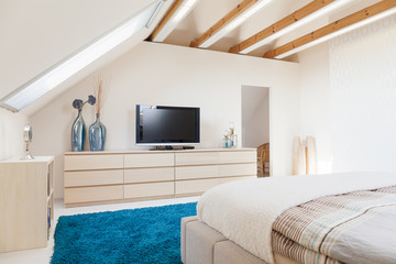 Luxury bedroom in modern style