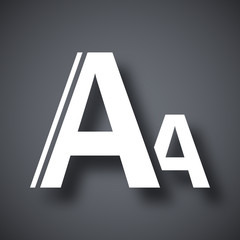 Vector font size icon