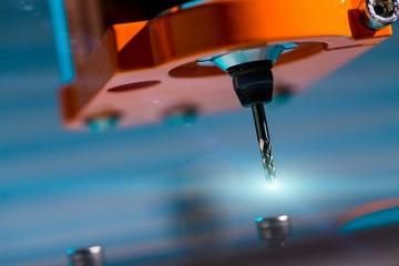 Diamond milling cutter on CNC machine