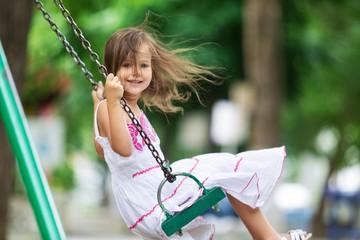 Child. Sky Swing Girl