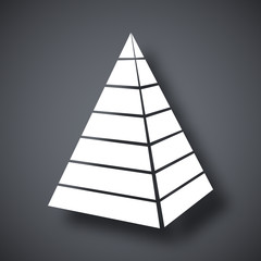 Vector layered pyramid icon