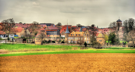 View of Osthoffen, a small town in Alsace - France