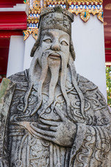 Chinese giant statue in Pho temple