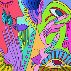 fantasy of colors and shapes