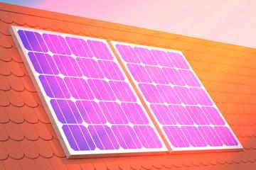 sun rays solar panel