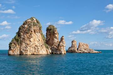 Scopello sea stacks