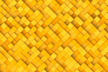 Abstract background, yellow cubes