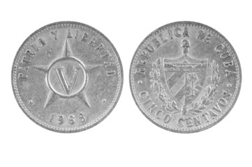Old Cuban coin.