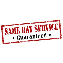 Same Day Service-stamp