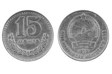 Old Mongolian coin.