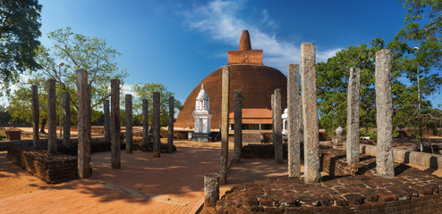 Panorama of Abayagiri Dagoba, Anuradhapura, Srilanka