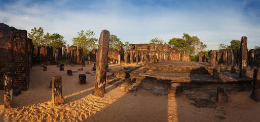 Panorama of ancient ruins in Polonnaruwa, Unesco, Srilanka, Asia