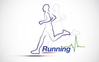 Logo course a pied 01