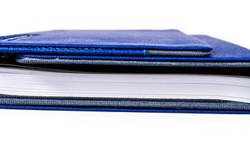 Luxury blue leather organizer