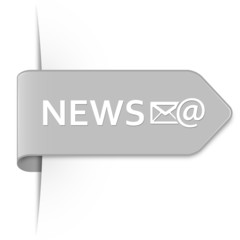 Long light gray arrow sticker – NEWS