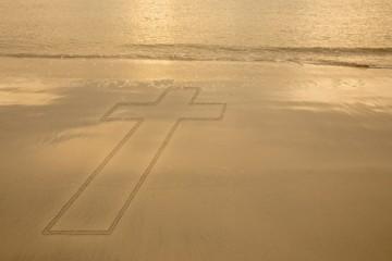 Composite image of cross