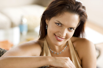 Beautiful smiling latin woman