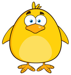 Cute Yellow Chick Cartoon Character