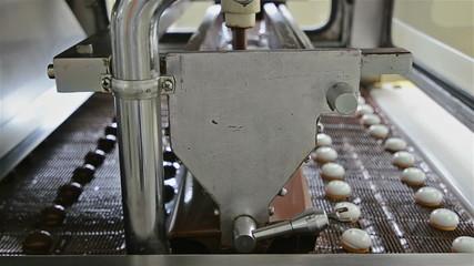 Marshmallow chocolate enrobing machine