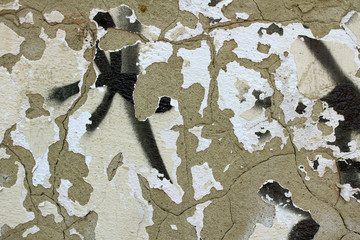 wall texture background with peeling old paint
