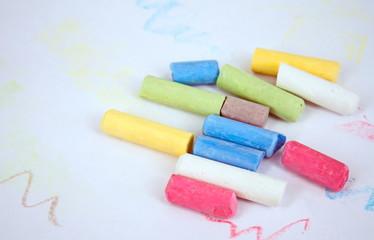 Chalk crayons