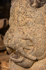 Head sculpted lion detail of Shore temple