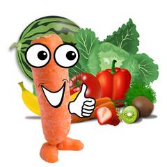 little carrot man - healthy food