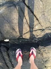 shadow on rock