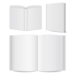 open book blank set