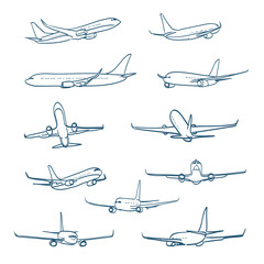 airplanes sketches