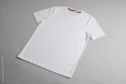White tshirt template ready for your graphic design. - 80398790