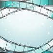 cinema background with retro filmstrip and stars as borders