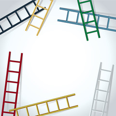 background with ladders