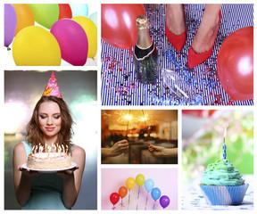 Happy birthday collage